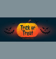 happy halloween banner with scary faces vector image vector image