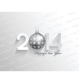happy new year background with a bauble design vector image vector image