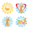 Health Spa icons vector image vector image
