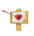 Heart target vector image
