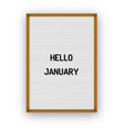 hello january motivation quote on white vector image vector image