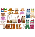 Hipster accessories vector image vector image