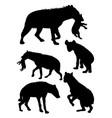 hyena animal silhouette vector image vector image