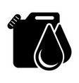 isolated oil galloon container icon vector image vector image