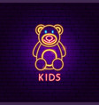kids neon label vector image