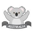 Koala symbol vector image vector image
