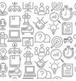 line style icons seamless pattern business vector image