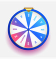 lottery luck wheel fortune design background vector image