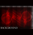 many fine lines on a red background vector image vector image