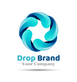 Mineral natural water icon design Aqua drop logo vector image vector image
