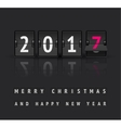 New Year concept Flip board clock changes from vector image vector image