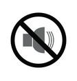 no volume icon vector image vector image