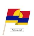 Palmyra Atoll Ribbon Waving Flag Isolated on White vector image vector image