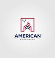 real estate building house mortgage logo design vector image vector image