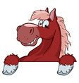 Red Horse Mascot Cartoon Head vector image vector image