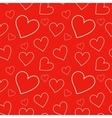 red seamless pattern with hearts vector image