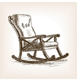 Rocking chair sketch style vector image vector image