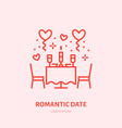 romantic date dinner by candlelight vector image vector image