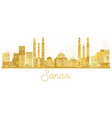 sanaa city skyline golden silhouette vector image vector image