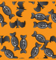 seamless pattern for halloween holiday background vector image vector image