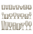 set different glassware vector image vector image