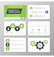 Set of green template for multipurpose vector image