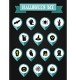 Set of halloween mapping pin icon vector image vector image