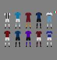 set of italian football kit 2018-19 vector image