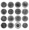 stamp shape grunge ink rubber black vector image