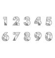 steel numbers metal text vector image vector image