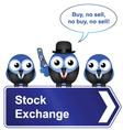 STOCK EXCHANGE SIGN vector image vector image