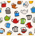 teapot and kettle teakettle to drink tea on vector image vector image