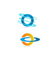 technology orbit web rings logo design vector image vector image