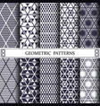 triangle geometric patternpattern fills web vector image vector image