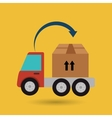 truck delivery shipping cargo vector image vector image