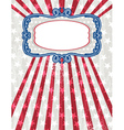 usa background with one decorative label vector image vector image