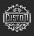 vintage label design vector image vector image