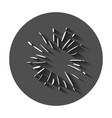 vintage sunburst icon sun sketch burst doodle vector image vector image