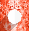 white christmas bauble and snowflake background vector image vector image