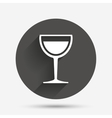 Wine glass sign icon Alcohol drink symbol vector image vector image