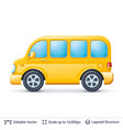yellow bus isolated on white vector image
