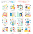 infographics mini concept e-learning modern vector image