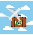 brazil country design vector image