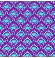 Damask seamless with floral pattern vector image