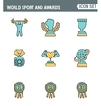 Icons line set premium quality of Sport and awards vector image