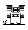 office building line icon sign vector image