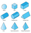 3d shape set vector image vector image