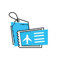 airplane ticket with tag commercial vector image