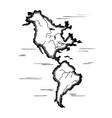 america and the atlantic ocean vector image vector image