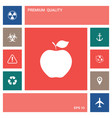 apple icon symbol elements for your design vector image